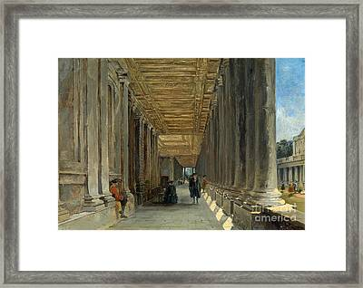 The Colonnade Of Queen Mary Framed Print by MotionAge Designs