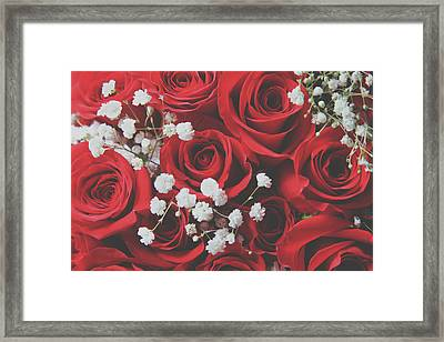 Framed Print featuring the photograph The Color Of Love by Laurie Search