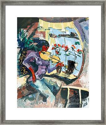 The Color Of Music Framed Print by Elisabeta Hermann