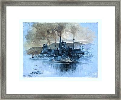 The Color Of Pollution Framed Print