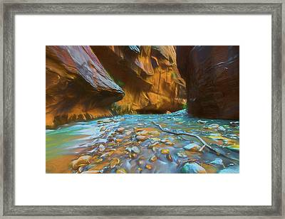 The Color Of Water Framed Print