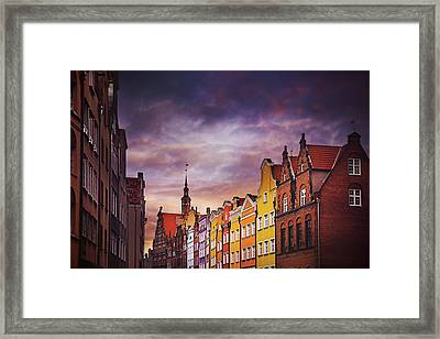The Colorful Architecture Of Gdansk Framed Print