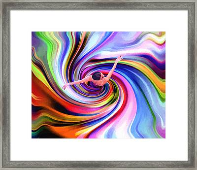 The Colorful Ballet Dress Framed Print