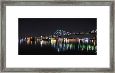 The Colorful Benjamin Franklin Bridge Framed Print