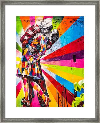 The Colorful Kiss Framed Print