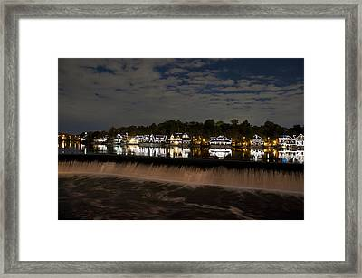 The Colorful Lights Of Boathouse Row Framed Print by Bill Cannon