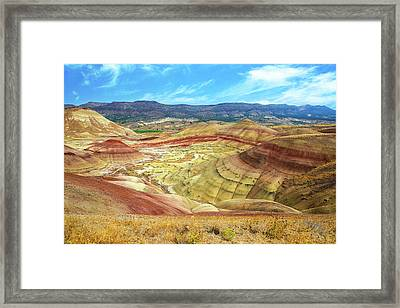 The Colorful Painted Hills In Eastern Oregon Framed Print