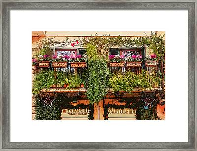 The Colorful Streets Of Rome Framed Print