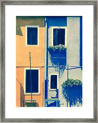 The Colors Of Burano Framed Print