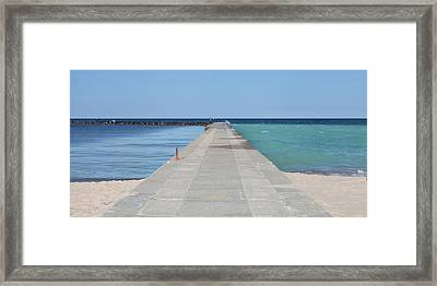 Framed Print featuring the photograph The Colors Of Lake Michigan by Fran Riley