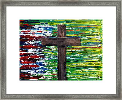 The Colors Of My Father's Heart Framed Print by Lori Kingston