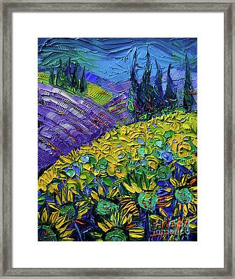 The Colors Of Provence Modern Impressionist Impasto Palette Knife Oil Painting Framed Print