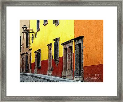 The Colors Of San Miguel Framed Print by Mexicolors Art Photography