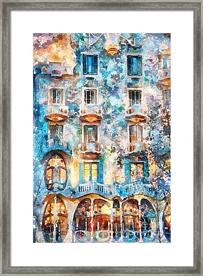 The Colors Of Spain Framed Print by Shirley Stalter