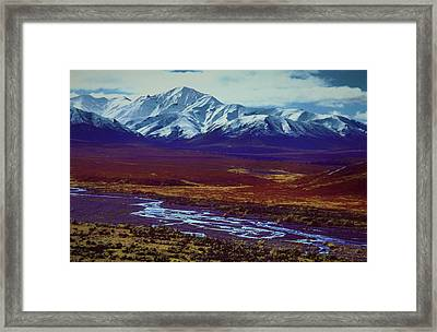 The Colors Of Toklat River Framed Print