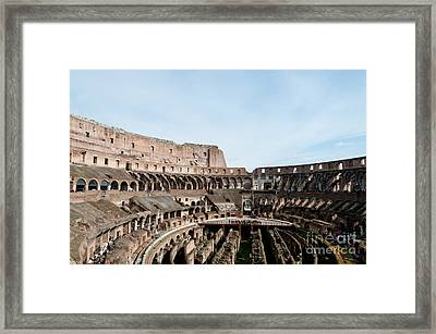 The Colosseum Colosseo Ruins Of The Gladiators Stadium Rome Italy Framed Print