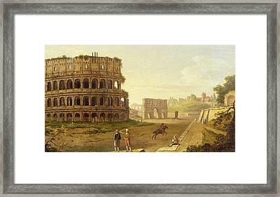 The Colosseum Framed Print by John Inigo Richards