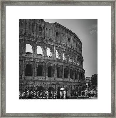 The Colosseum, Rome Italy Framed Print
