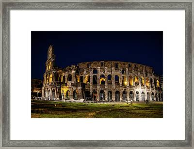 The Colosseum Framed Print by Simone Amaduzzi Photographer