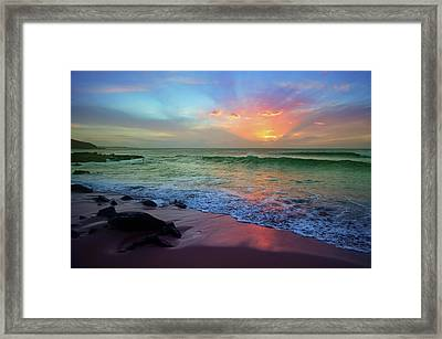 Framed Print featuring the photograph The Colour Before The Darkness by Tara Turner