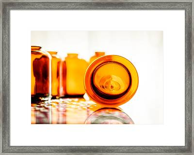 The Colour Of Amber V Framed Print by Jon Woodhams
