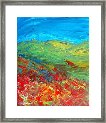 The Colour Of Summer Framed Print by Elizabeth Kendall