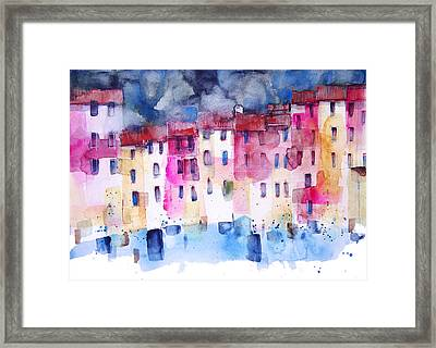 The Coloured Houses Of Portofino Framed Print by Alessandro Andreuccetti