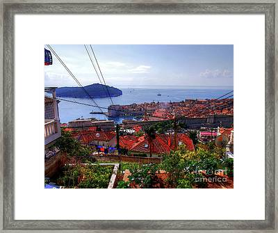 The Colourful City Of Dubrovnik Framed Print