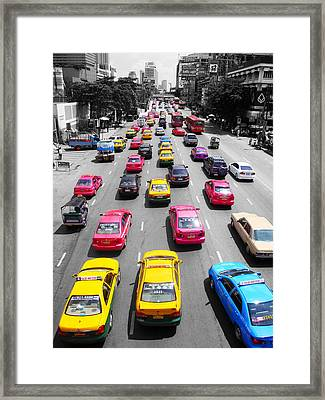 The Colours Of Bangkok Framed Print by Kelly Jones
