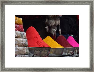 The Colours Of Holi Framed Print