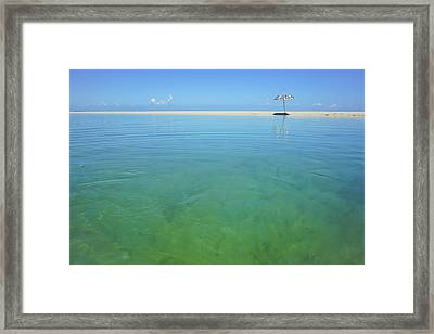 The Colours Of Paradise On A Summer Day Framed Print