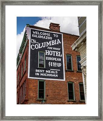 The Columbia Hotel Building Framed Print
