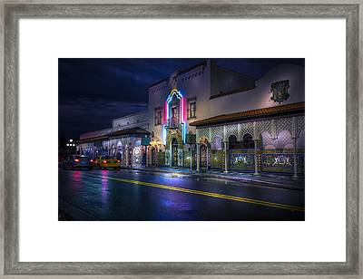 The Columbia Of Ybor Framed Print by Marvin Spates