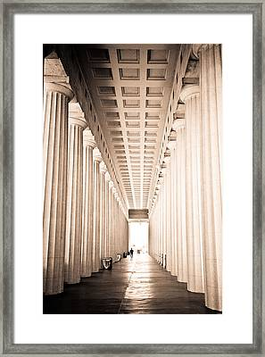 The Columns At Soldier Field Framed Print