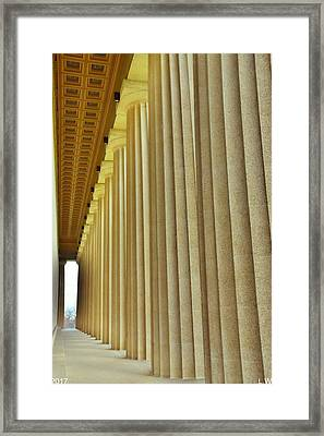 The Columns At The Parthenon In Nashville Tennessee Framed Print