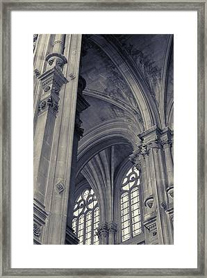 Framed Print featuring the photograph The Columns Of Saint-eustache, Paris, France. by Richard Goodrich