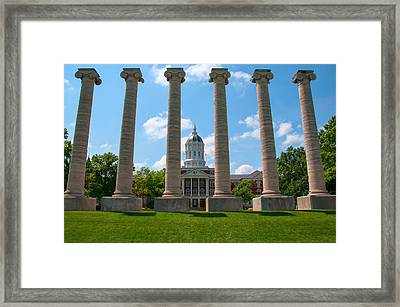 The Columns Framed Print