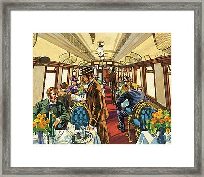 The Comfort Of The Pullman Coach Of A Victorian Passenger Train Framed Print