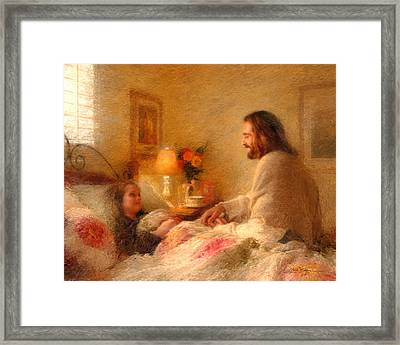 Framed Print featuring the painting The Comforter by Greg Olsen