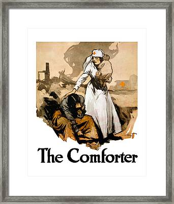 The Comforter - World War One Nurse Framed Print by War Is Hell Store