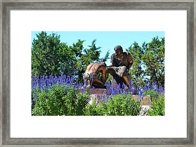 The Coming King Sculpture Garden Framed Print