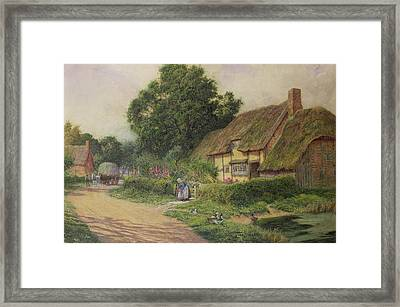 The Coming Of The Haycart  Framed Print by Arthur Claude Strachan