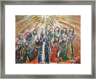 The Coming Of The Holy Spirit  Framed Print by Seaux-N-Seau Soileau