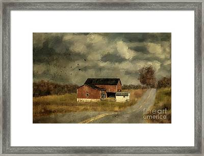 The Coming On Of Winter Framed Print by Lois Bryan