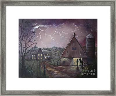 The Coming Storm Framed Print by Marlene Kinser Bell
