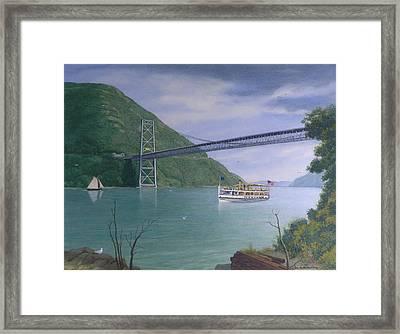 The Commander At Bear Mt. Bridge  Framed Print by Glen Heberling