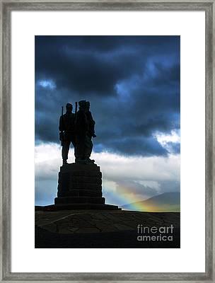 The Commando Memorial, Scotland, Uk Framed Print by Diane Diederich
