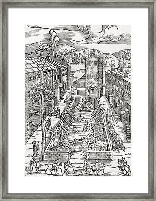 The Common Spa Of The Poor And Infirm Framed Print by Vintage Design Pics