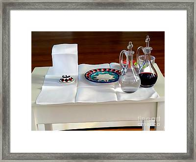 The Communion Table Framed Print
