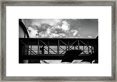 The Commuter - Dublin, Ireland - Black And White Street Photography Framed Print by Giuseppe Milo
